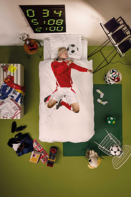 SNURK Fodboldspiller Sengetøj
