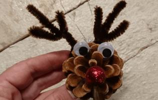Koglerensdyr - DIY Rudolf/rensdyr Af Grankogle